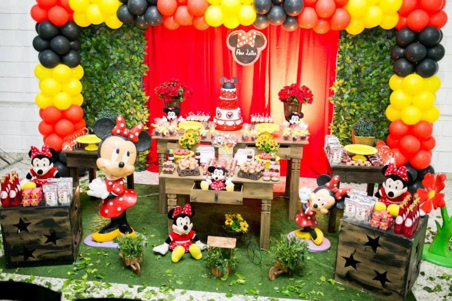 Minnie Vermelha  Boom Festas